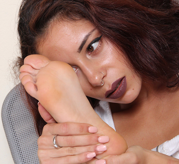 Mayla: One of the models you may select for your custom foot fetish video